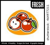 stylized apple icon | Shutterstock .eps vector #464977211
