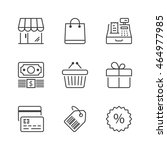 store icons set  thin line ...   Shutterstock .eps vector #464977985