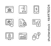 e banking icons set  thin line  ... | Shutterstock .eps vector #464978324