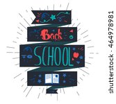 vintage back to school...   Shutterstock .eps vector #464978981