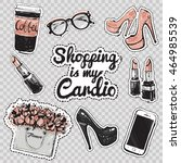 set of fashionable elements ... | Shutterstock .eps vector #464985539
