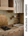 kitchen design in old fashion... | Shutterstock . vector #46498840