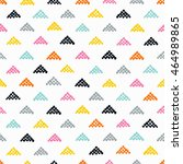 seamless hand drawn pattern... | Shutterstock .eps vector #464989865