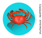 red crab fresh seafood icon... | Shutterstock .eps vector #464990921