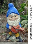 old weathered garden gnome... | Shutterstock . vector #464991374