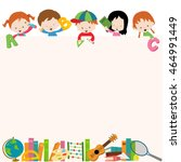 school kids template   Shutterstock .eps vector #464991449