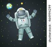 cosmonaut realistic astronaut... | Shutterstock .eps vector #464994299