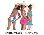 three  young african girl in... | Shutterstock . vector #46499542