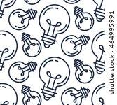 lamp bulb seamless pattern....   Shutterstock .eps vector #464995991