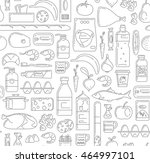food  drinks and household... | Shutterstock .eps vector #464997101