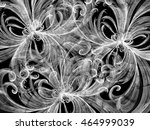 grey curly lines abstract... | Shutterstock . vector #464999039