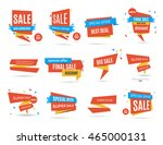 set of red sale discount and... | Shutterstock .eps vector #465000131