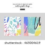 set of artistic creative... | Shutterstock .eps vector #465004619