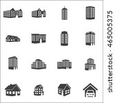 real estate set on white... | Shutterstock .eps vector #465005375