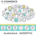 electronic commerce concept... | Shutterstock .eps vector #465005741