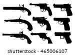 set of pistols | Shutterstock .eps vector #465006107