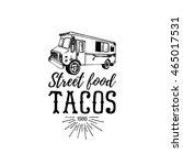 vector vintage mexican food... | Shutterstock .eps vector #465017531
