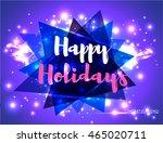 vector happy holiday... | Shutterstock .eps vector #465020711