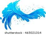 water splash vector on white...   Shutterstock .eps vector #465021314