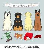 bad dogs | Shutterstock .eps vector #465021887