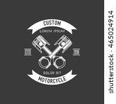motorcycle badge | Shutterstock .eps vector #465024914