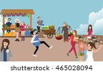 traditional open market... | Shutterstock .eps vector #465028094