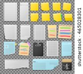 stickers and notes  paper sheet ... | Shutterstock .eps vector #465028301