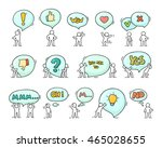 speech bubbles icons set with... | Shutterstock .eps vector #465028655