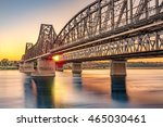 anghel saligny bridge spans the ...   Shutterstock . vector #465030461