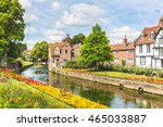 view of typical houses and... | Shutterstock . vector #465033887