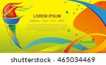 icon sport torch with colorful... | Shutterstock .eps vector #465034469