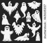 cartoon spooky ghost character...   Shutterstock .eps vector #465035357