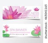 wellness spa yoga banner... | Shutterstock .eps vector #465041165