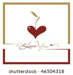 abstract valentine's day card...   Shutterstock .eps vector #46504318