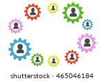 background circle gears and... | Shutterstock .eps vector #465046184