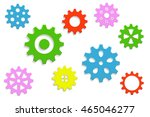 9 gears multicolored background | Shutterstock .eps vector #465046277