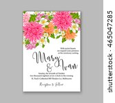 wedding invitation or card with ... | Shutterstock .eps vector #465047285