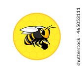 bee icon isolated on a... | Shutterstock .eps vector #465053111