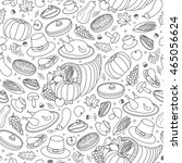 black and white seamless... | Shutterstock .eps vector #465056624
