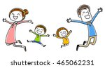 family  jump with a smile | Shutterstock .eps vector #465062231