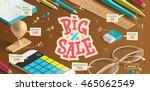 big sale poster for advertising.... | Shutterstock .eps vector #465062549