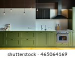 kitchen in a modern style with... | Shutterstock . vector #465064169