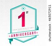 anniversary emblems 1... | Shutterstock .eps vector #465072911
