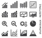 analytics icon set | Shutterstock .eps vector #465073961