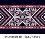 geometric ethnic oriental... | Shutterstock .eps vector #465075491