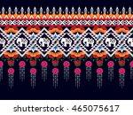 geometric ethnic oriental... | Shutterstock .eps vector #465075617