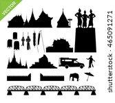 chiang mai symbol and landmark... | Shutterstock .eps vector #465091271