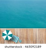 wood deck of sea top view ... | Shutterstock .eps vector #465092189