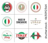made in italy   set of label... | Shutterstock .eps vector #465092564
