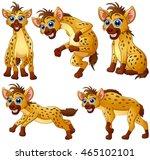 hyena cartoon set collection | Shutterstock .eps vector #465102101